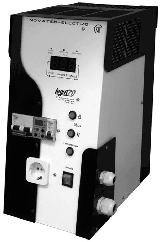 Однофазный бестрансформаторный бесступенчатый стабилизатор.  Мощность 7,0 кВт...